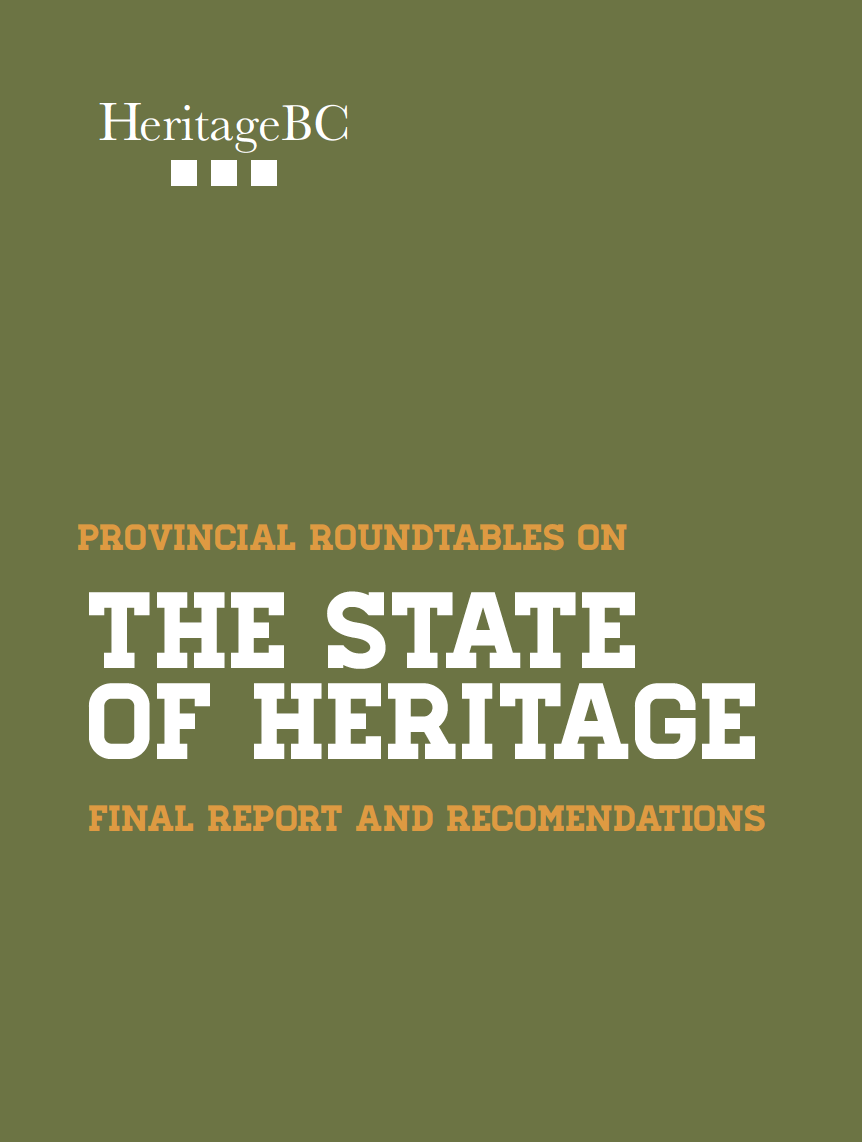 The State of Heritage: Provincial Roundtables