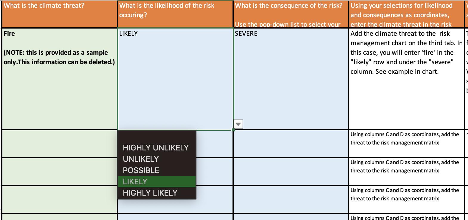 screenshot of second tab in worksheet